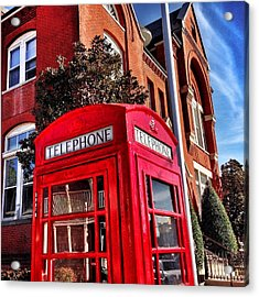 Red Phone Booth Acrylic Print