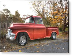 Red Pick-up Acrylic Print
