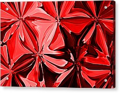 Red Pinched And Gathered Acrylic Print