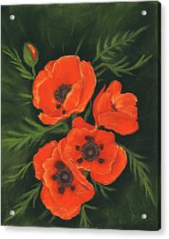 Red Poppies Acrylic Print by Anastasiya Malakhova