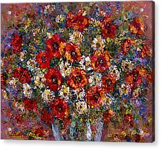 Red Poppies Bouquet Acrylic Print