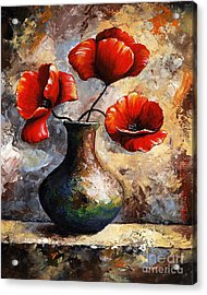 Red Poppies Acrylic Print by Emerico Imre Toth