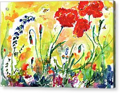 Red Poppies Provence 2017 Acrylic Print