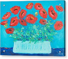 Red Poppies Still Life Acrylic Print
