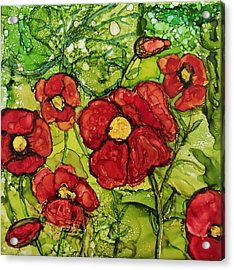 Red Poppies Acrylic Print by Suzanne Canner