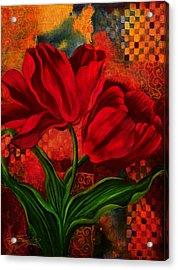 Red Poppy Acrylic Print by Lynn Lawson Pajunen
