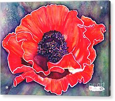 Red Poppy Acrylic Print by Norma Boeckler