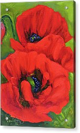 Red Poppy Seed Packet Acrylic Print
