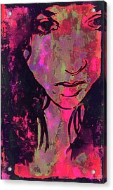 Acrylic Print featuring the photograph Red Portrait by Jeff Gettis