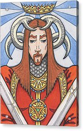 Red Prince Acrylic Print by Amy S Turner