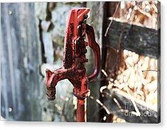 Red Pump Acrylic Print by John Rizzuto