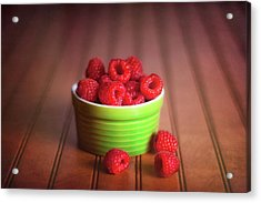 Red Raspberries Still Life Acrylic Print