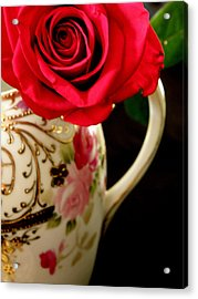 Red Red Rose Acrylic Print by Lainie Wrightson