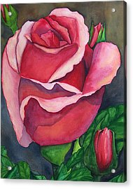 Red Red Rose Acrylic Print by Robert Thomaston