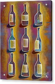 Acrylic Print featuring the painting Red Red Wine by Carla Bank