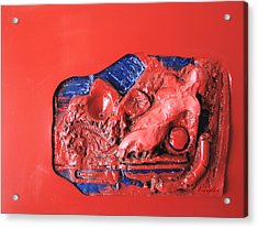 Red Relief Acrylic Print by Chuck Kugler