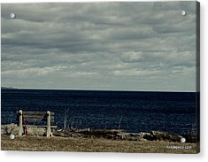 Red Ribbon At The Sea Acrylic Print by Lois Lepisto