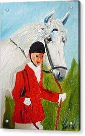 Red Riding Jacket Acrylic Print by Irit Bourla