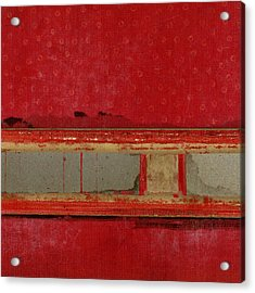 Red Riley Collage Square 1 Acrylic Print