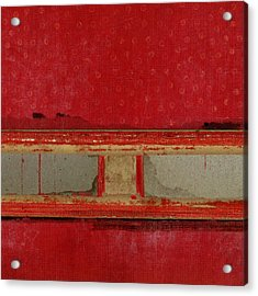 Red Riley Collage Square 2 Acrylic Print