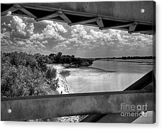 Red River Bridge View Acrylic Print