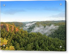 Red River Gorge Kentucky View Of Chimney Top Rock At Sunset Acrylic Print by Design Turnpike