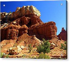 Red Rock 4 Acrylic Print by Marty Koch
