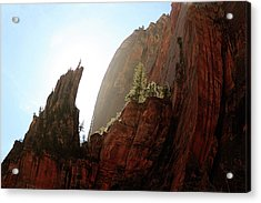 Red Rock At Zion Acrylic Print