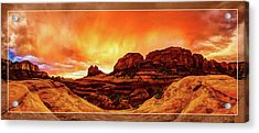 Red Rock Blaze Acrylic Print by ABeautifulSky Photography