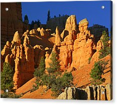 Red Rock Canoyon At Sunset Acrylic Print by Marty Koch