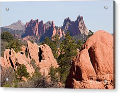 Red Rock Canyon Open Space Park And Garden Of The Gods Acrylic Print