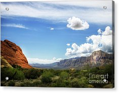 Red Rock Canyon Vintage Style Sweeping Vista Acrylic Print