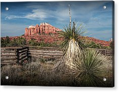 Acrylic Print featuring the photograph Red Rock Formation In Sedona Arizona by Randall Nyhof
