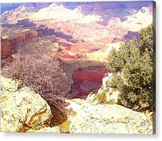 Red Rock Acrylic Print by Marna Edwards Flavell