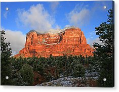 Red Rock Morning Acrylic Print by Gary Kaylor