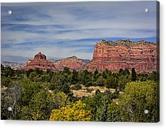 Acrylic Print featuring the photograph Red Rock Scenic Drive by John Gilbert