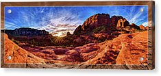 Red Rock Spirit Acrylic Print by ABeautifulSky Photography
