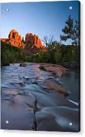 Red Rock Sunset Acrylic Print by Mike  Dawson