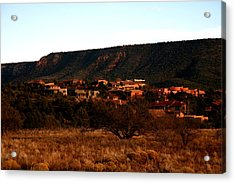 Red Rock Village Acrylic Print by Jennilyn Benedicto