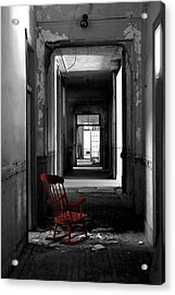 Red Rocker - Preston Castle Acrylic Print