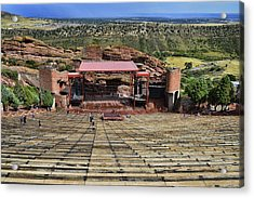 Red Rocks Ampitheatre Colorado - Photography Acrylic Print by Ann Powell