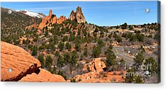Acrylic Print featuring the photograph Red Rocks At High Point by Adam Jewell