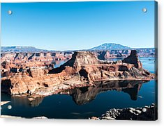 Red Rocks Drifting In Lake Powell Acrylic Print