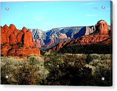 Red Rocks Acrylic Print by Jennilyn Benedicto