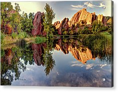 Red Rocks Reflection Acrylic Print