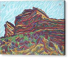 Red Rocks Acrylic Print by Robert SORENSEN