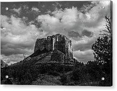 Acrylic Print featuring the photograph Red Rocks Sedona Bnw 1 by David Haskett