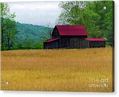 Red Roof Barn Acrylic Print