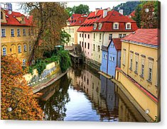 Red Roofs Of Prague Acrylic Print by Jay Lee