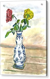 Red Rose Yellow Rose Acrylic Print